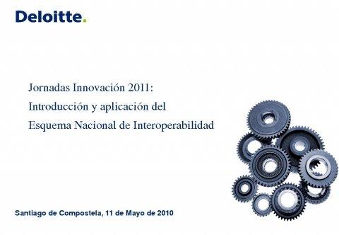 Presentación D. Óscar Rozalén. Xerente da Área de Technology Advisory de Deloitte.  - Xornada sobre Introdución e aplicación do Esquema Nacional de Interoperabilidade nas Administracións Públicas